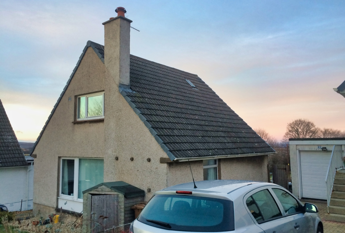 Dormer Extension Linlithgow before