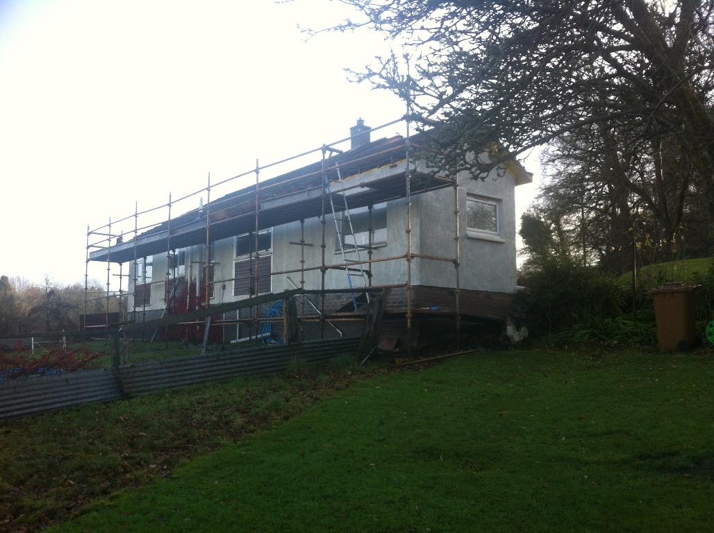 New build Harloup House before 1